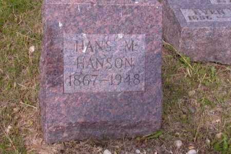 HANSON, HANS M. - Barnes County, North Dakota   HANS M. HANSON - North Dakota Gravestone Photos