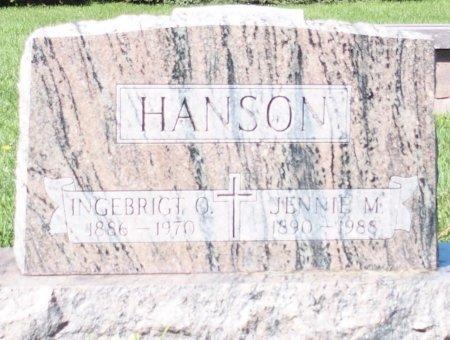 SARSTEN HANSON, JENNIE M. - Barnes County, North Dakota | JENNIE M. SARSTEN HANSON - North Dakota Gravestone Photos