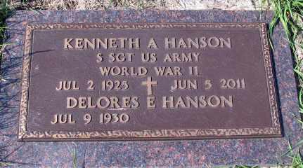 HANSON, KENNETH A. - Barnes County, North Dakota   KENNETH A. HANSON - North Dakota Gravestone Photos