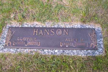 HANSON, LLOYD L. - Barnes County, North Dakota   LLOYD L. HANSON - North Dakota Gravestone Photos