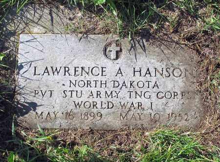 HANSON, LAWRENCE A. - Barnes County, North Dakota | LAWRENCE A. HANSON - North Dakota Gravestone Photos