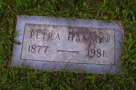HANSON, PETRA - Barnes County, North Dakota | PETRA HANSON - North Dakota Gravestone Photos