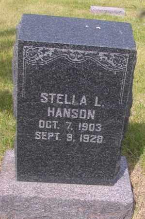 HANSON, STELLA L. - Barnes County, North Dakota   STELLA L. HANSON - North Dakota Gravestone Photos