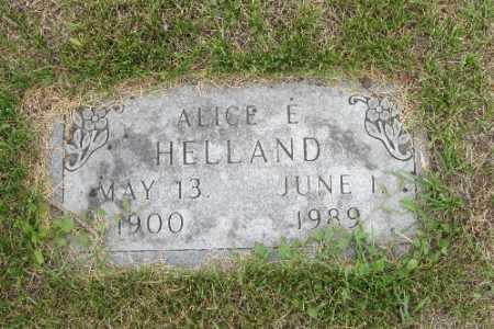 HELLAND, ALICE E. - Barnes County, North Dakota | ALICE E. HELLAND - North Dakota Gravestone Photos