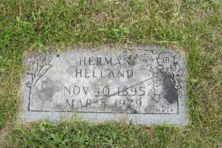 HELLAND, HERMAN - Barnes County, North Dakota   HERMAN HELLAND - North Dakota Gravestone Photos