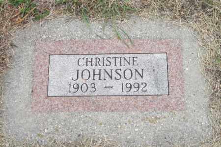 JOHNSON, CHRISTINE - Barnes County, North Dakota | CHRISTINE JOHNSON - North Dakota Gravestone Photos