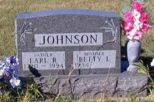 JOHNSON, EARL R. - Barnes County, North Dakota | EARL R. JOHNSON - North Dakota Gravestone Photos