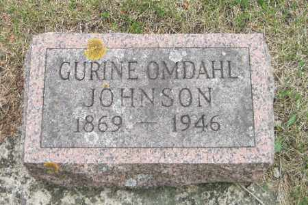 OMDAHL JOHNSON, GURINE - Barnes County, North Dakota | GURINE OMDAHL JOHNSON - North Dakota Gravestone Photos