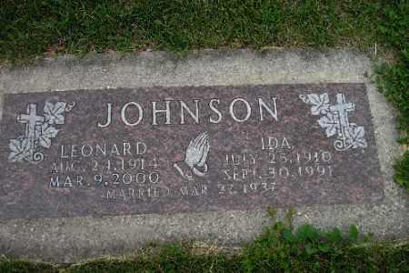 JOHNSON, IDA - Barnes County, North Dakota | IDA JOHNSON - North Dakota Gravestone Photos