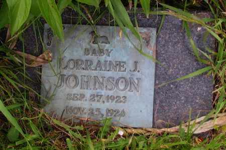 JOHNSON, LORRAINE J. - Barnes County, North Dakota | LORRAINE J. JOHNSON - North Dakota Gravestone Photos