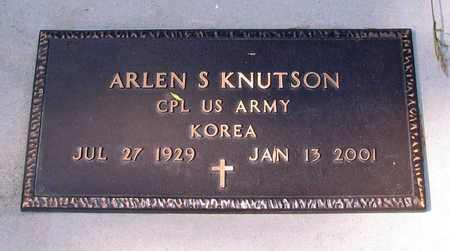 KNUTSON, ARLEN S. - Barnes County, North Dakota | ARLEN S. KNUTSON - North Dakota Gravestone Photos