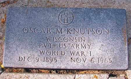 KNUTSON, OSCAR M. - Barnes County, North Dakota | OSCAR M. KNUTSON - North Dakota Gravestone Photos