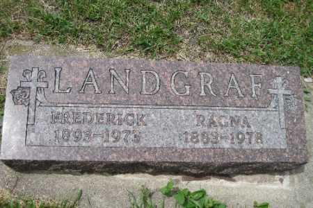 LANDGRAF, RAGNA - Barnes County, North Dakota | RAGNA LANDGRAF - North Dakota Gravestone Photos