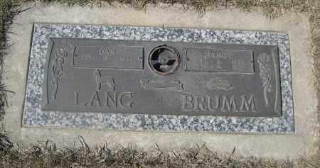 BRUMM, NANCY - Barnes County, North Dakota | NANCY BRUMM - North Dakota Gravestone Photos