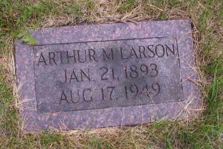 LARSON, ARTHUR M. - Barnes County, North Dakota   ARTHUR M. LARSON - North Dakota Gravestone Photos