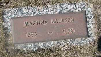 LAURSEN, MARTINA - Barnes County, North Dakota   MARTINA LAURSEN - North Dakota Gravestone Photos