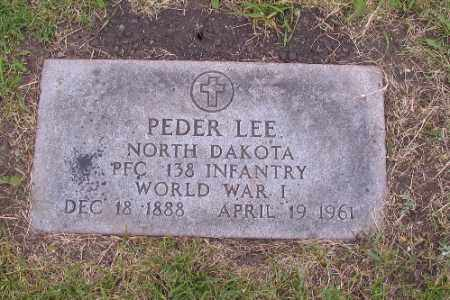 LEE, PEDER - Barnes County, North Dakota   PEDER LEE - North Dakota Gravestone Photos