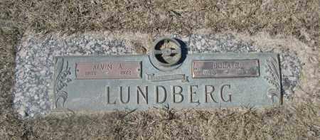 LUNDBERG, ALVIN A. - Barnes County, North Dakota | ALVIN A. LUNDBERG - North Dakota Gravestone Photos