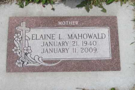 MAHOWALD, ELAINE L. - Barnes County, North Dakota | ELAINE L. MAHOWALD - North Dakota Gravestone Photos
