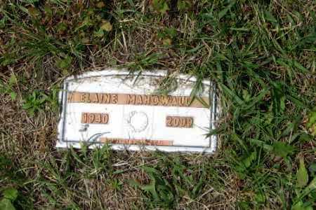 MANOWALD, ELAINE - Barnes County, North Dakota   ELAINE MANOWALD - North Dakota Gravestone Photos