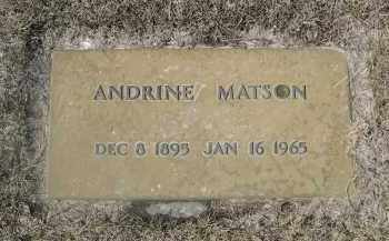 MATSON, ANDRINE - Barnes County, North Dakota | ANDRINE MATSON - North Dakota Gravestone Photos