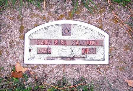PAWLUK, BABY GIRL - Barnes County, North Dakota | BABY GIRL PAWLUK - North Dakota Gravestone Photos