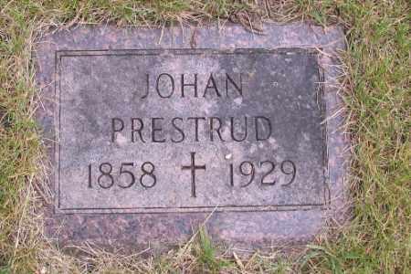 PRESTRUD, JOHAN - Barnes County, North Dakota   JOHAN PRESTRUD - North Dakota Gravestone Photos