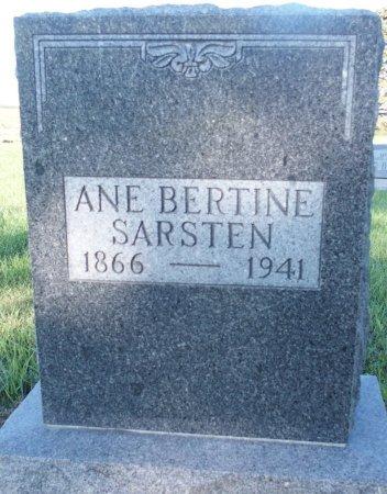 SARSTEN, ANE BERTINE - Barnes County, North Dakota | ANE BERTINE SARSTEN - North Dakota Gravestone Photos