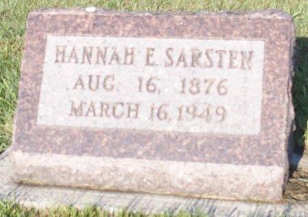 SARSTEN, HANNAH E. - Barnes County, North Dakota | HANNAH E. SARSTEN - North Dakota Gravestone Photos