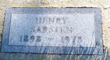 SARSTEN, HENRY - Barnes County, North Dakota | HENRY SARSTEN - North Dakota Gravestone Photos