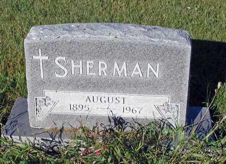 SHERMAN, AUGUST - Barnes County, North Dakota   AUGUST SHERMAN - North Dakota Gravestone Photos