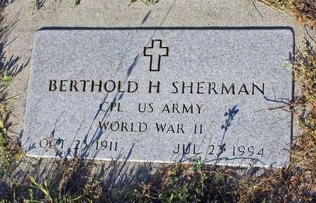 SHERMAN, BERTHOLD H. - Barnes County, North Dakota | BERTHOLD H. SHERMAN - North Dakota Gravestone Photos