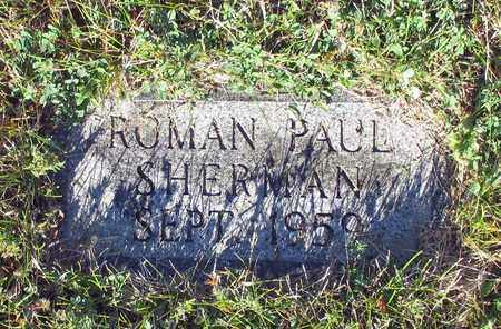SHERMAN, ROMAN PAUL - Barnes County, North Dakota   ROMAN PAUL SHERMAN - North Dakota Gravestone Photos