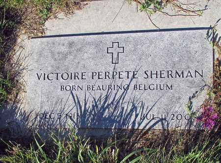 SHERMAN, VICTOIRE PERPETE - Barnes County, North Dakota   VICTOIRE PERPETE SHERMAN - North Dakota Gravestone Photos