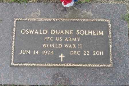 SOLHEIM, OSWALD DUANE - Barnes County, North Dakota | OSWALD DUANE SOLHEIM - North Dakota Gravestone Photos