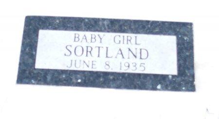 SORTLAND, BABY GIRL - Barnes County, North Dakota   BABY GIRL SORTLAND - North Dakota Gravestone Photos