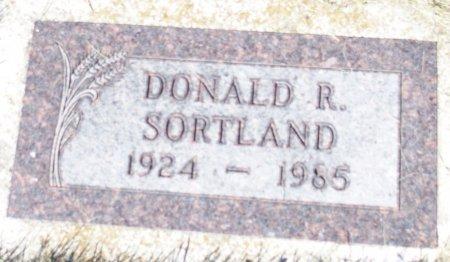 SORTLAND, DONALD R. - Barnes County, North Dakota | DONALD R. SORTLAND - North Dakota Gravestone Photos