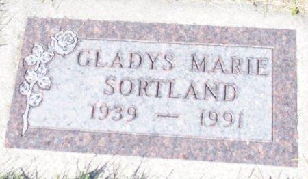 SORTLAND, GLADYS MARIE - Barnes County, North Dakota   GLADYS MARIE SORTLAND - North Dakota Gravestone Photos
