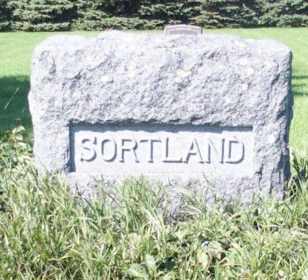SORTLAND, HEADSTONE - Barnes County, North Dakota   HEADSTONE SORTLAND - North Dakota Gravestone Photos