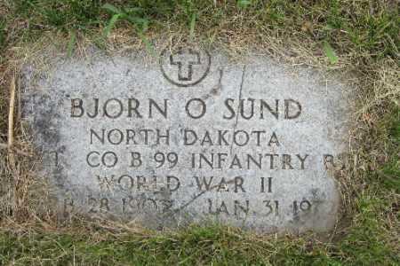 SUND, BJORN O. - Barnes County, North Dakota | BJORN O. SUND - North Dakota Gravestone Photos