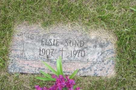SUND, ELSIE - Barnes County, North Dakota | ELSIE SUND - North Dakota Gravestone Photos
