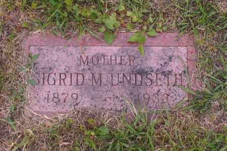 UNDSETH, SIGRID M. - Barnes County, North Dakota   SIGRID M. UNDSETH - North Dakota Gravestone Photos