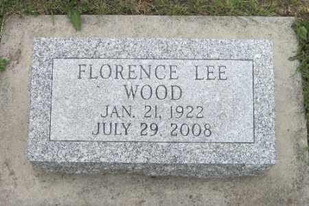 WOOD, FLORENCE LEE - Barnes County, North Dakota | FLORENCE LEE WOOD - North Dakota Gravestone Photos