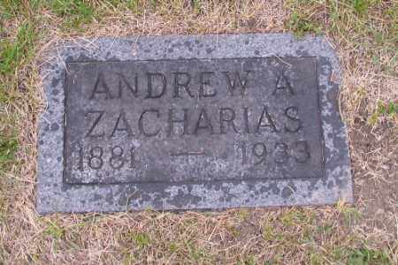 ZACHARIAS, ANDREW A. - Barnes County, North Dakota | ANDREW A. ZACHARIAS - North Dakota Gravestone Photos