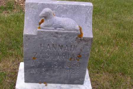 ZACHARIAS, HANNAH - Barnes County, North Dakota | HANNAH ZACHARIAS - North Dakota Gravestone Photos
