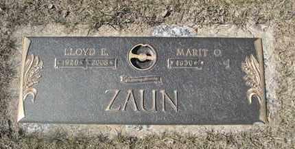 ZAUN, MARIT O. - Barnes County, North Dakota | MARIT O. ZAUN - North Dakota Gravestone Photos