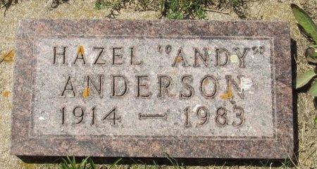 "ANDERSON, HAZEL ""ANDY"" - Bottineau County, North Dakota | HAZEL ""ANDY"" ANDERSON - North Dakota Gravestone Photos"