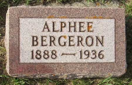 BERGERON, ALPHEE - Bottineau County, North Dakota | ALPHEE BERGERON - North Dakota Gravestone Photos