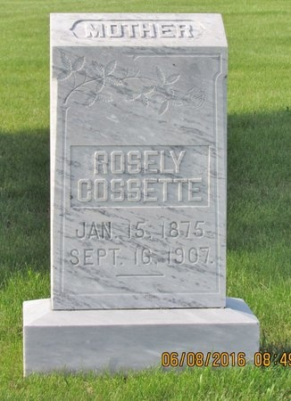 COSSETTE, ROSELY - Bottineau County, North Dakota | ROSELY COSSETTE - North Dakota Gravestone Photos