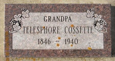 COSSETTE, TELESPHORE - Bottineau County, North Dakota | TELESPHORE COSSETTE - North Dakota Gravestone Photos